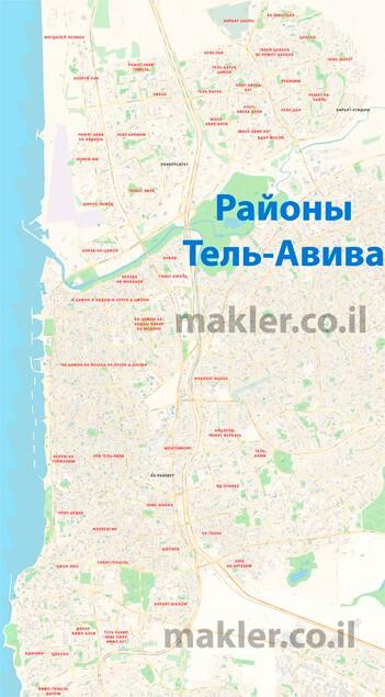 Мини карта Тель-Авива